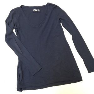 Anthropologie Pure + Good Medium Navy Blue Shirt
